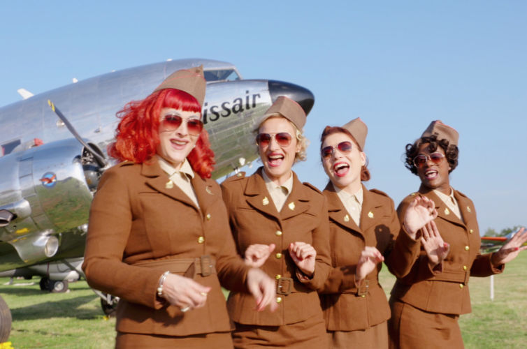 """Satin Doll Sisters and the """"Swissair"""" DC-3"""